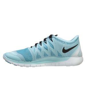 Nike Free Runs 5.0 Womens Ice Cube Blue